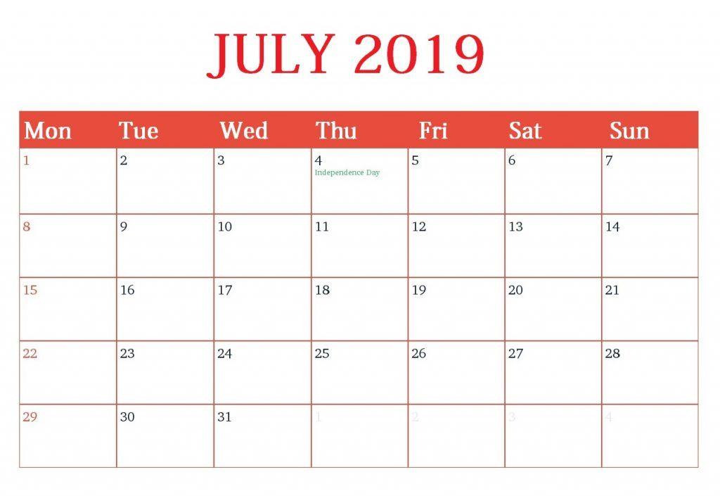 Customized Calendar Template
