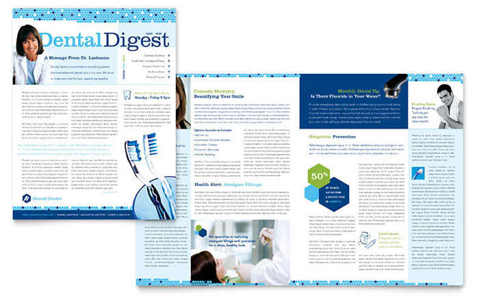 Dental Newsletter Template