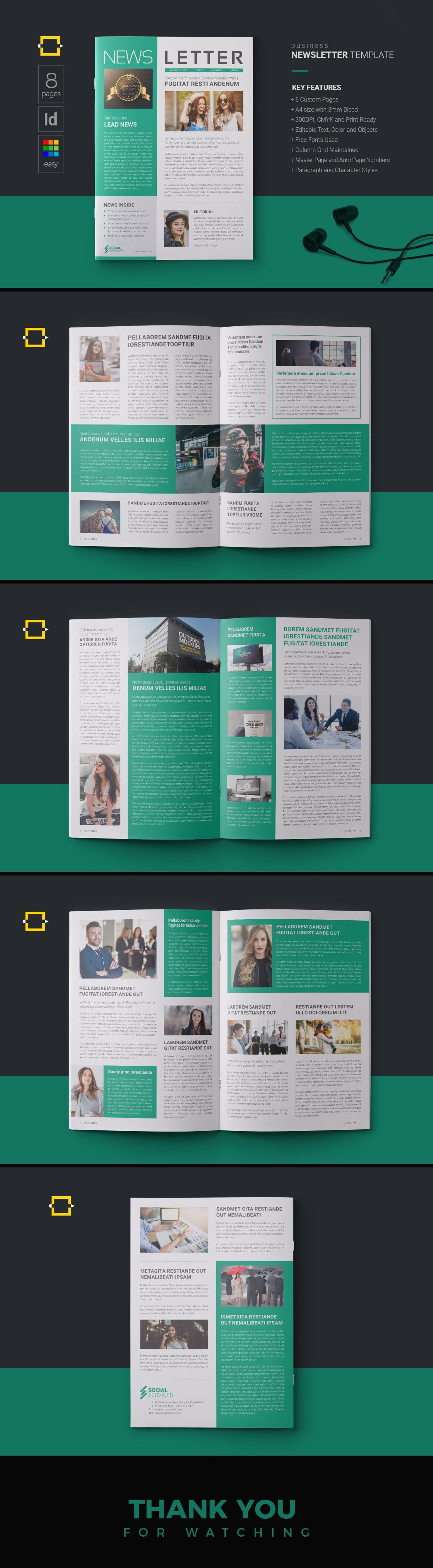 Design Layout Newsletter Templates