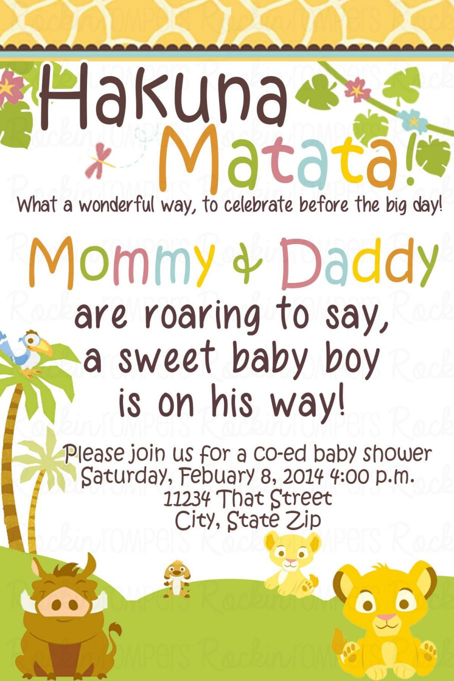 Downloadable Baby Boy Baby Shower Invitations Templates Free
