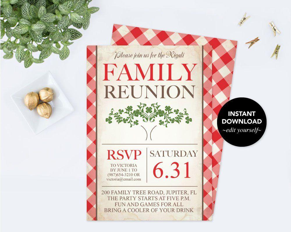 Downloadable Reunion Invitation Template