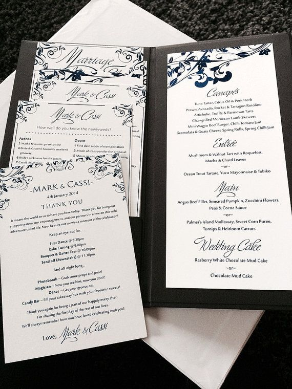 Downloadable Wedding Menu Template Word
