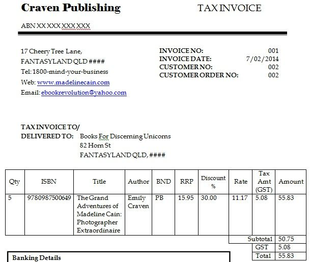 Dummy Invoice Template