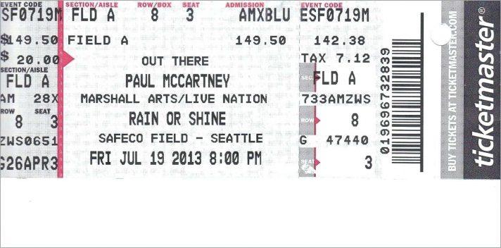Editable Printable Concert Ticket Template Free