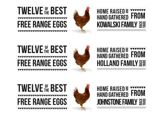 Egg Carton Label Template Free