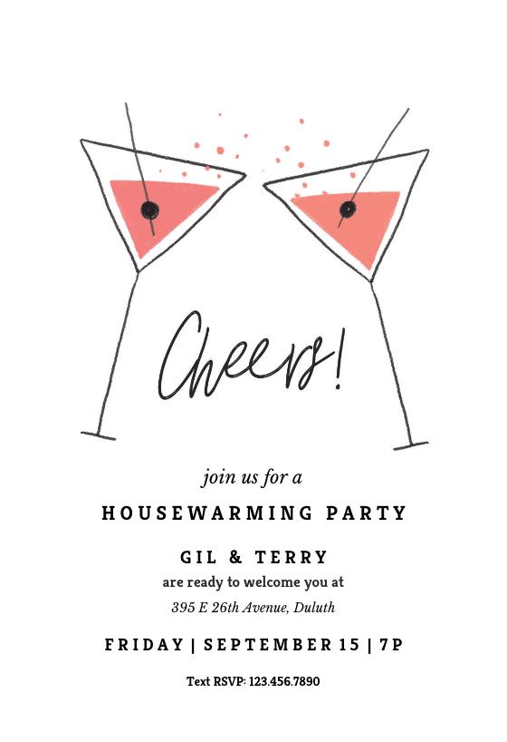 Elegant Cocktail Invitation Template