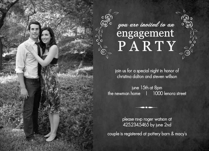Engagement Party Invitation Templates Printable