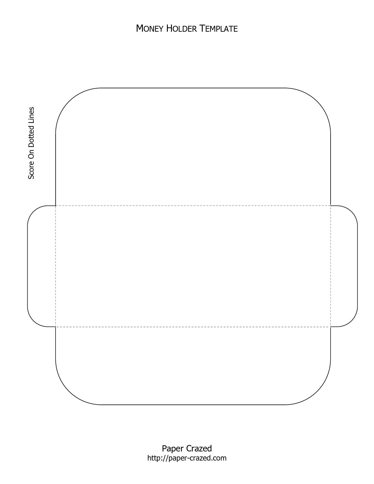 Envelope Gift Card Holder Template