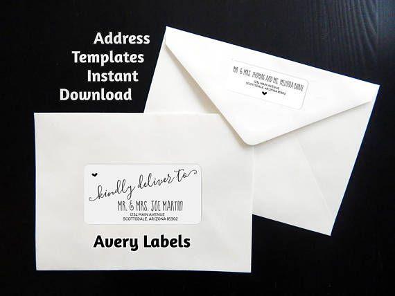 Envelope Labels Template