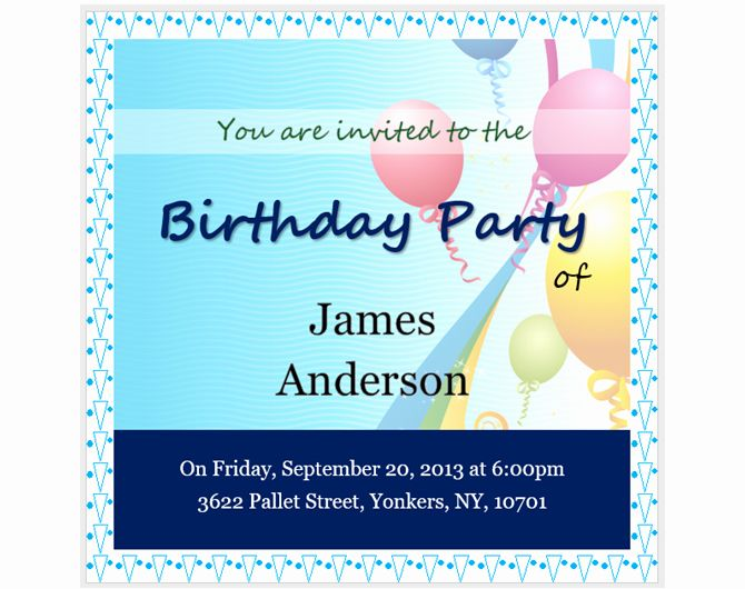 Event Invitation Free Invitation Templates For Word