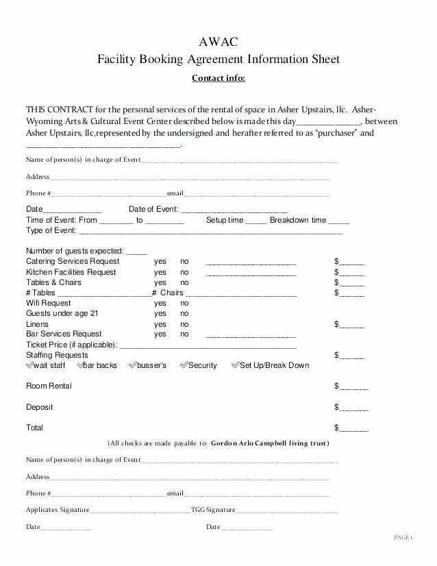 Event Space Rental Party Rental Contract Template