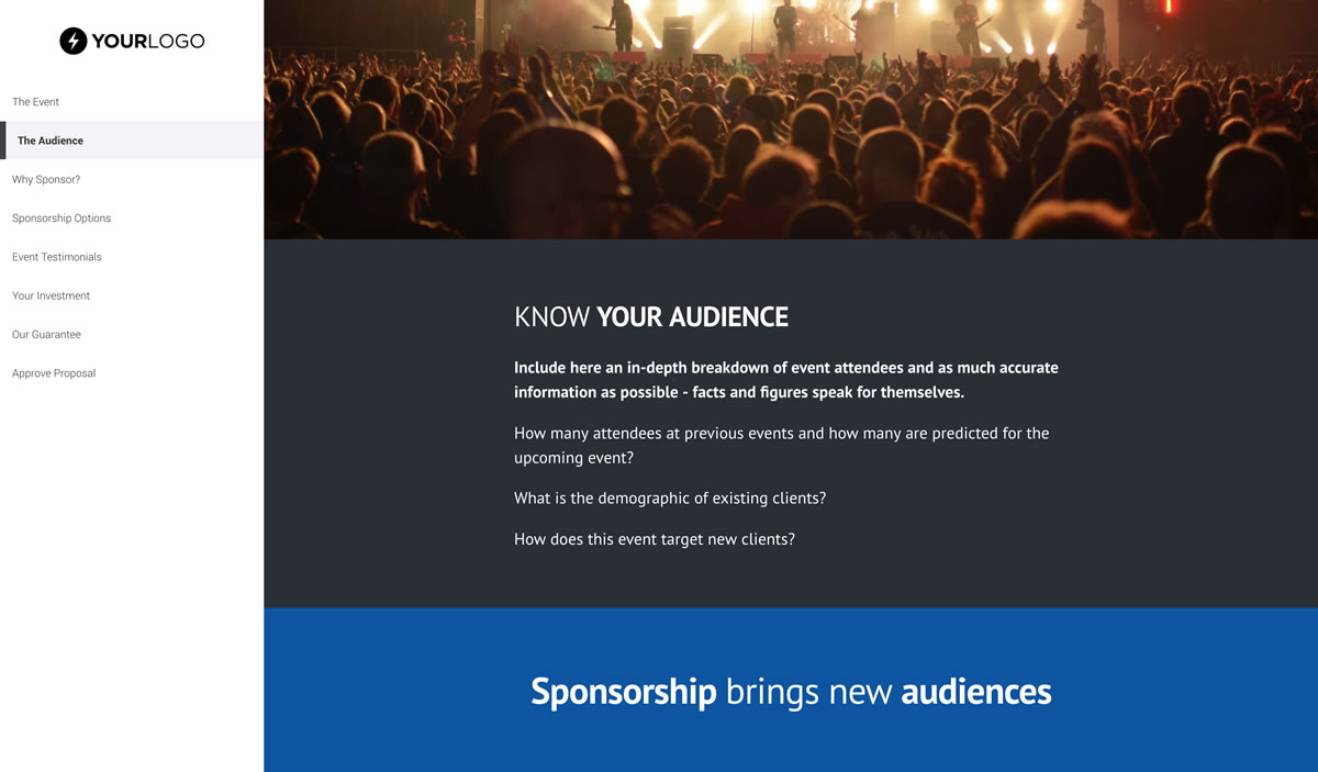 Event Sponsorship Proposal Template Free