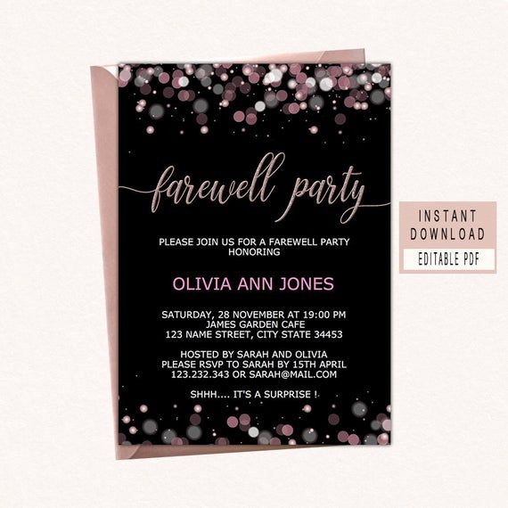 Farewell Invite Template