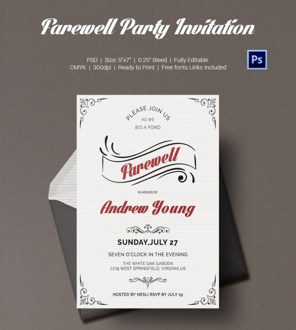 Farewell Lunch Invite Template
