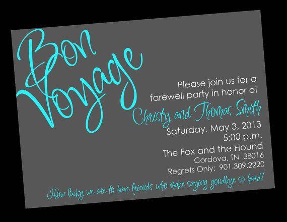 Farewell Party Invite Template