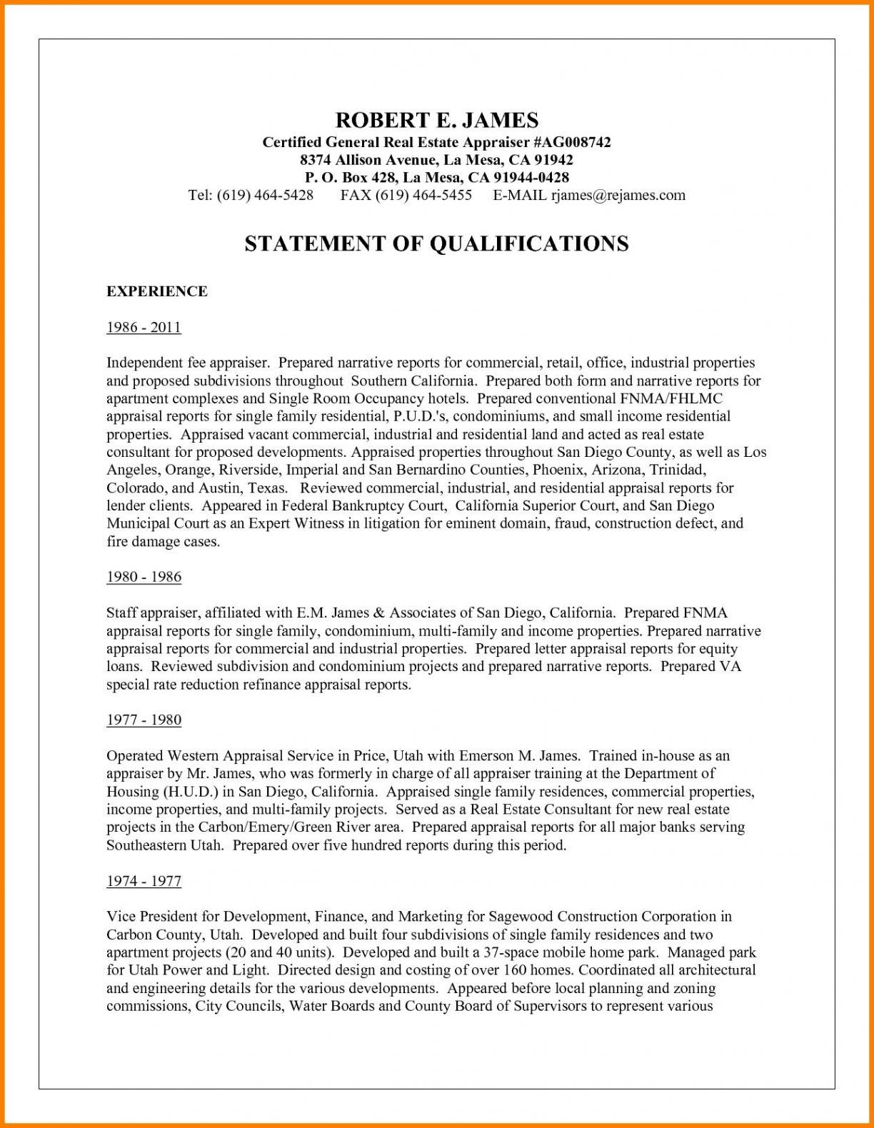 Federal Narrative Resume Template