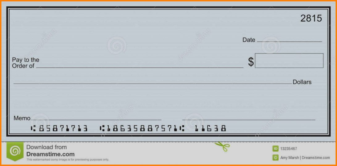 Fillable Blank Check Template Free