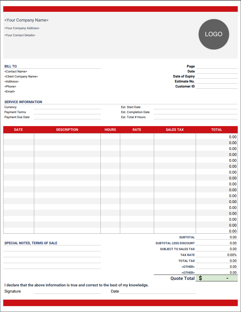 Final Invoice Template