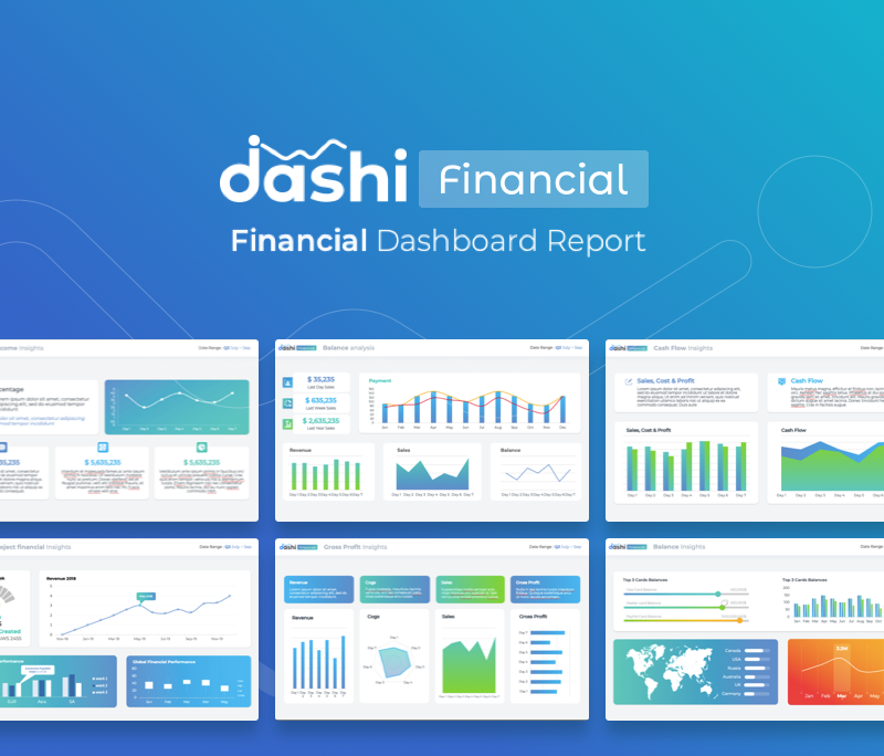 Financial Reporting Financial Dashboard Template