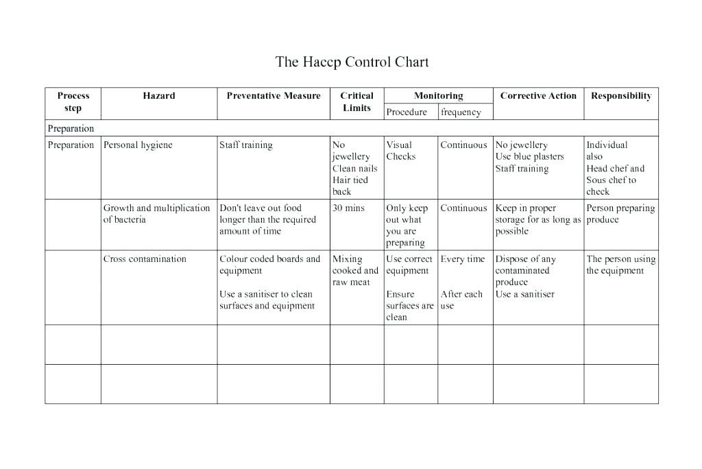Flow Chart Haccp Plan Template