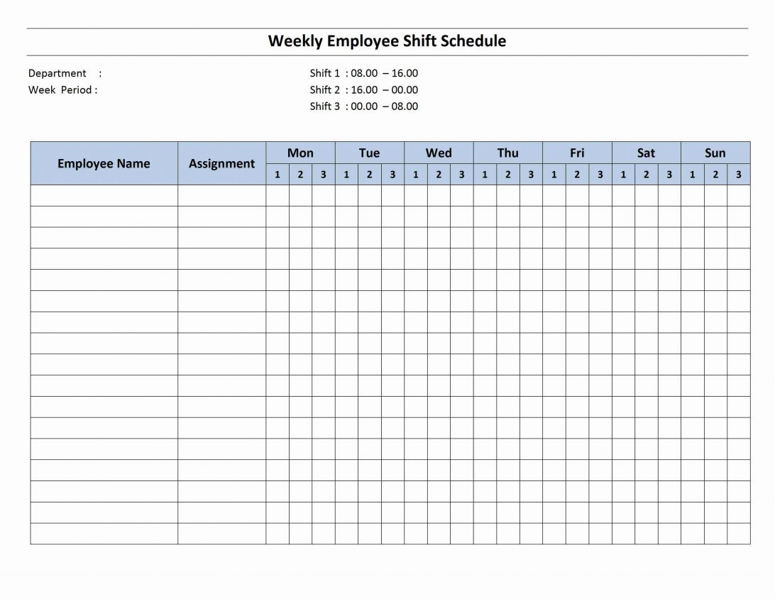 Free 24 Hour Schedule Template