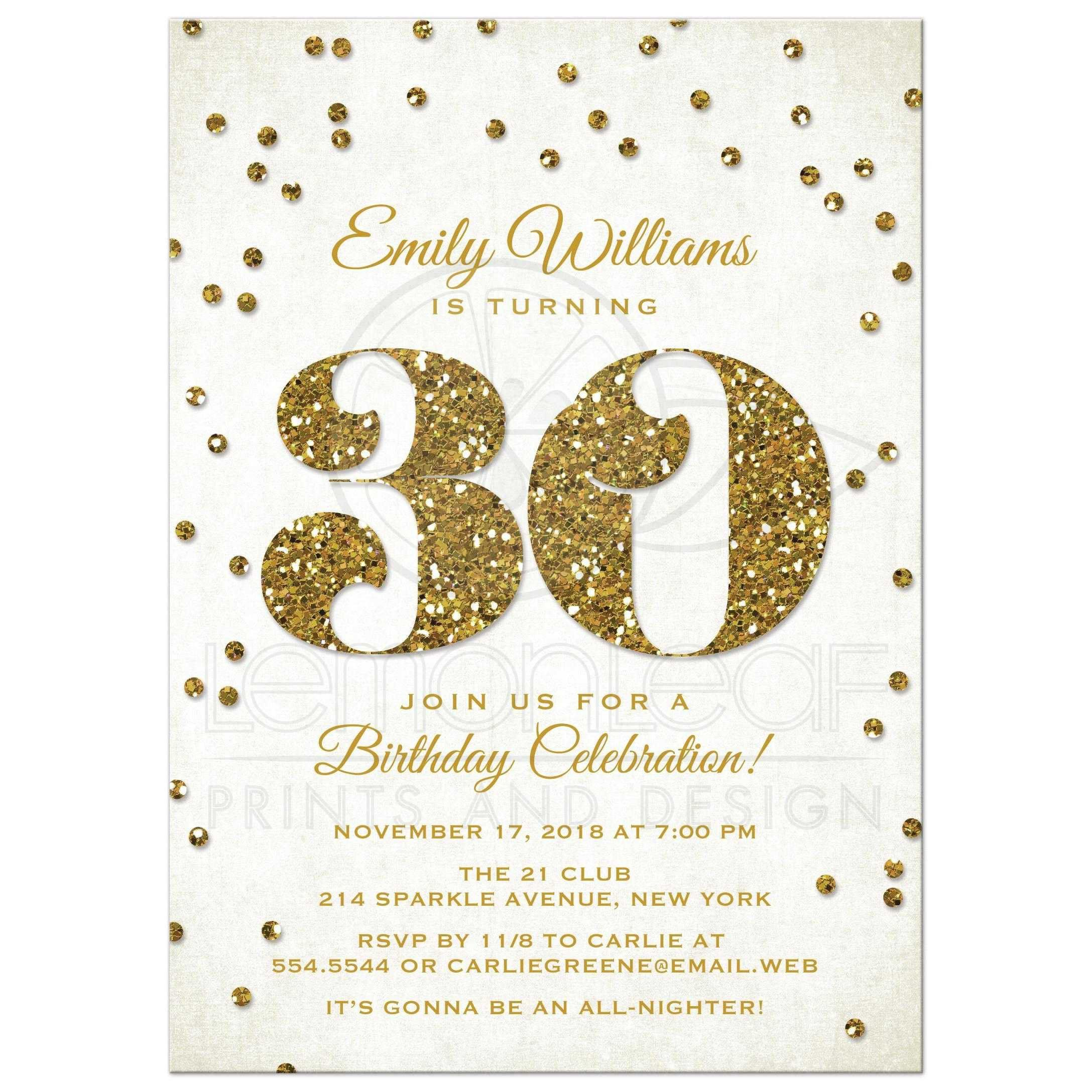 Free 30th Birthday Invitation Templates