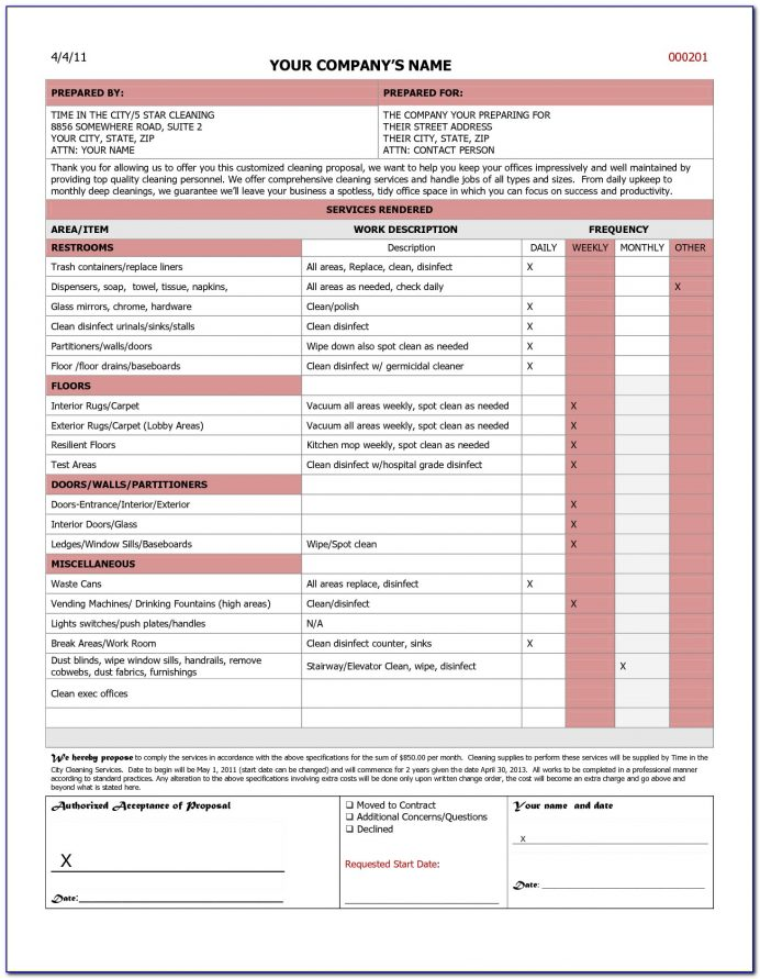 Free Commercial Cleaning Proposal Template