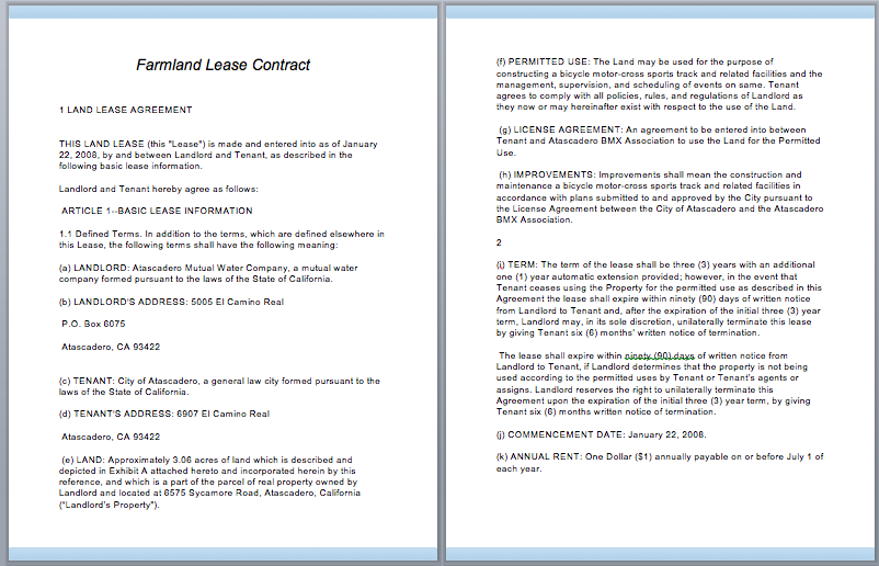 Free Commercial Lease Template Downloads