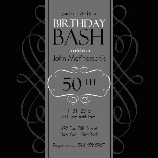 Free Editable 40th Birthday Invitation Templates