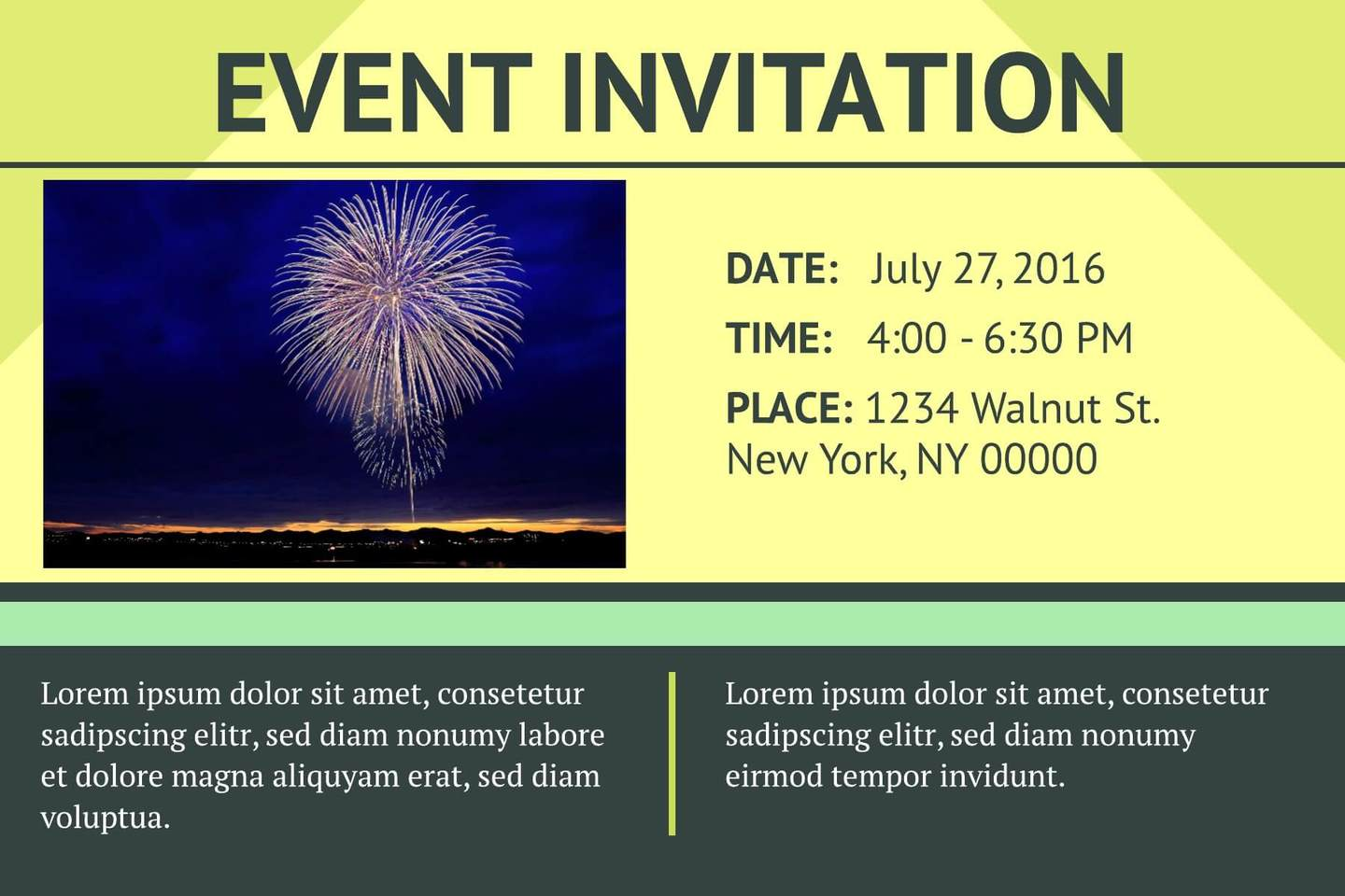 Free Event Invitation Templates