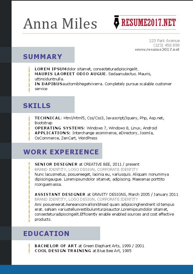 Free Functional Resume Templates Microsoft Word