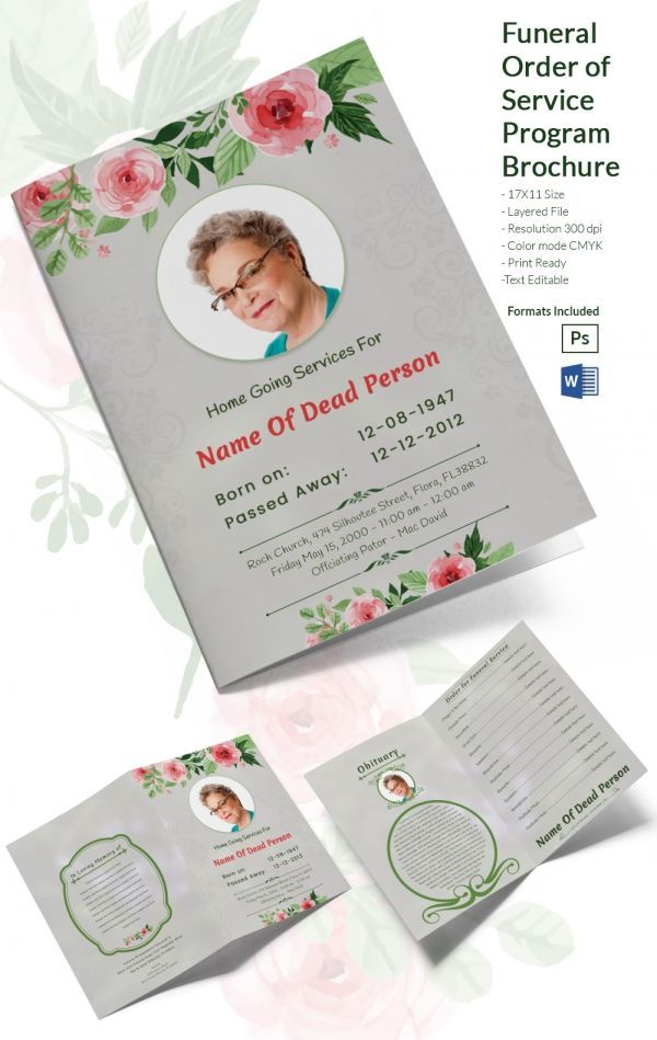 Free Funeral Brochure Template Word