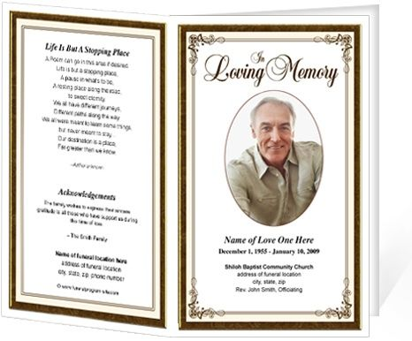 Free Funeral Brochure Template