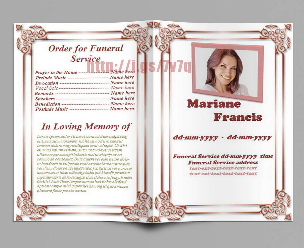 Free Memorial Service Template Download