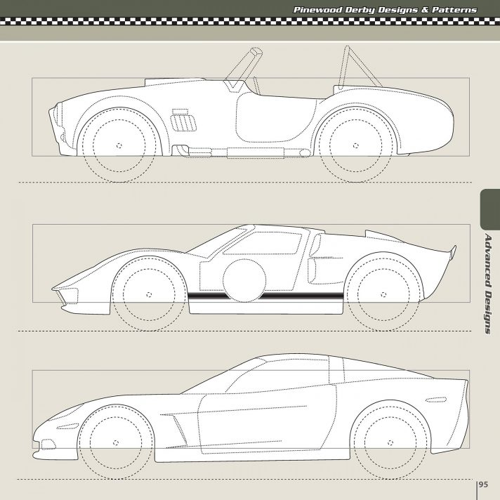 Free Pinewood Derby Car Design Templates
