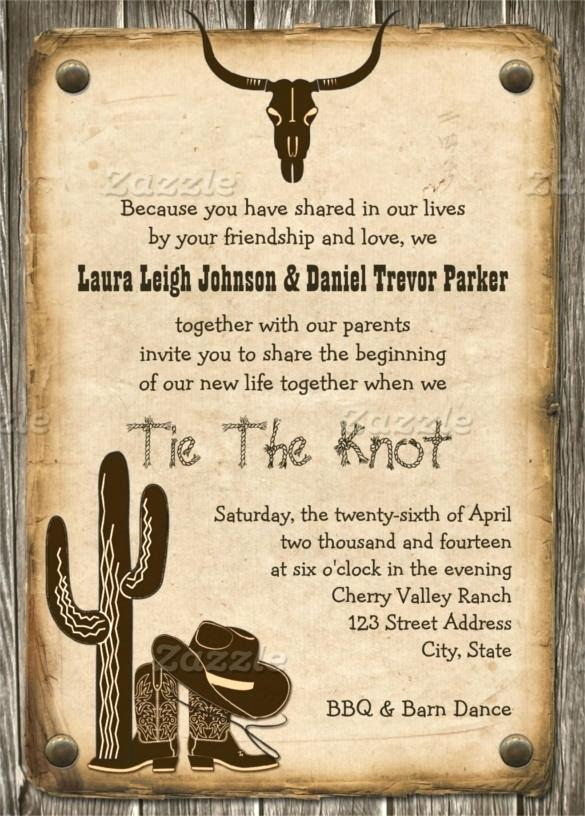 Free Printable Country Western Invitation Templates Free