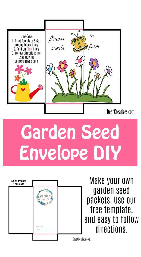 Free Printable Printable Seed Packet Template