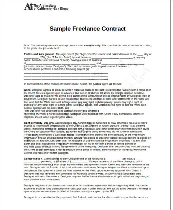 Freelance Agreement Template