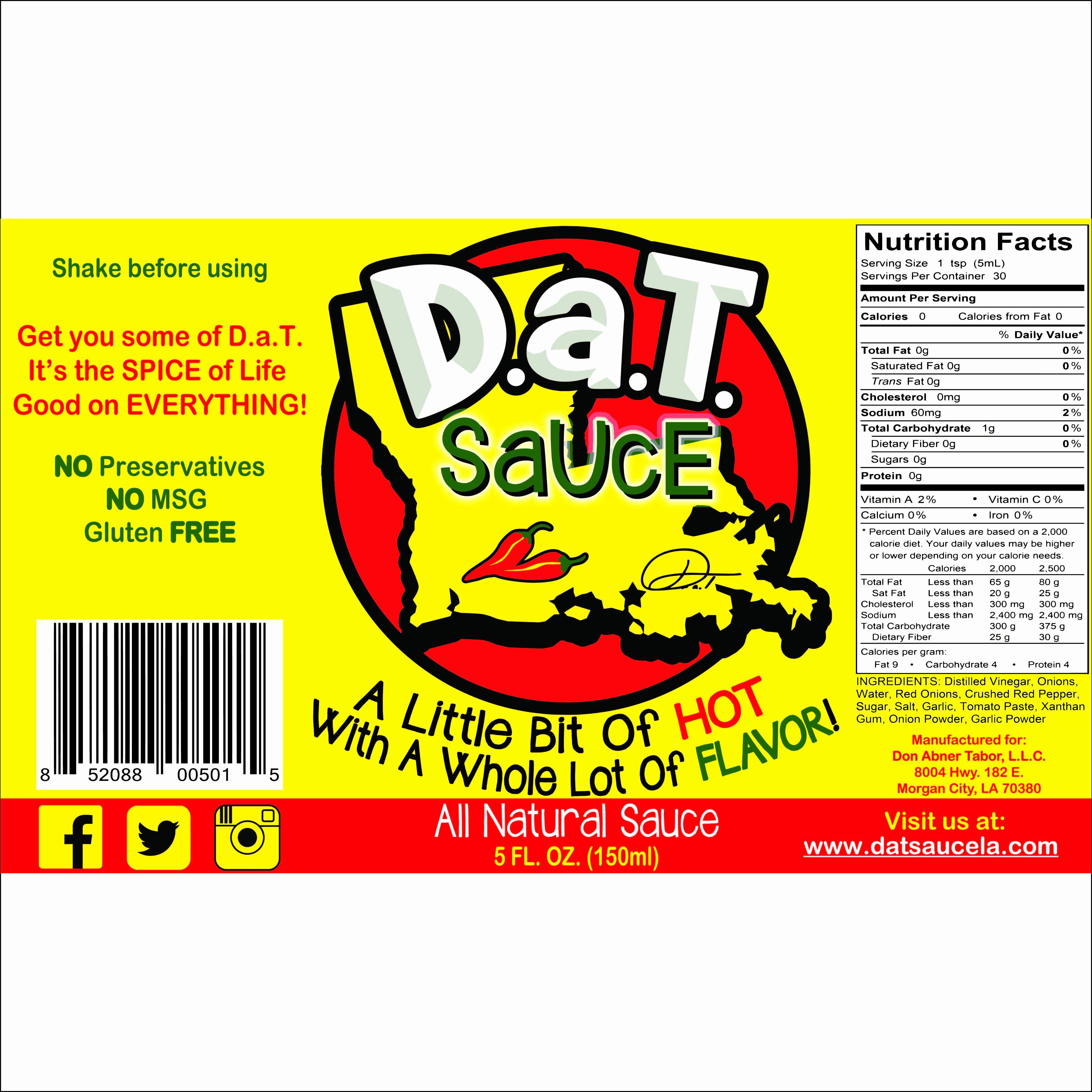 Hot Sauce Bottle Label Template