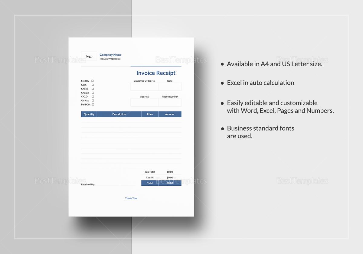 Invoice Apple Receipt Template