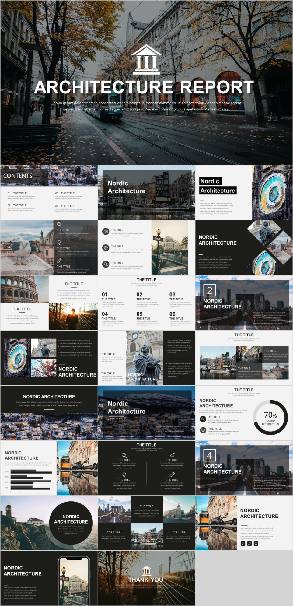 Layout Architectural Portfolio Templates