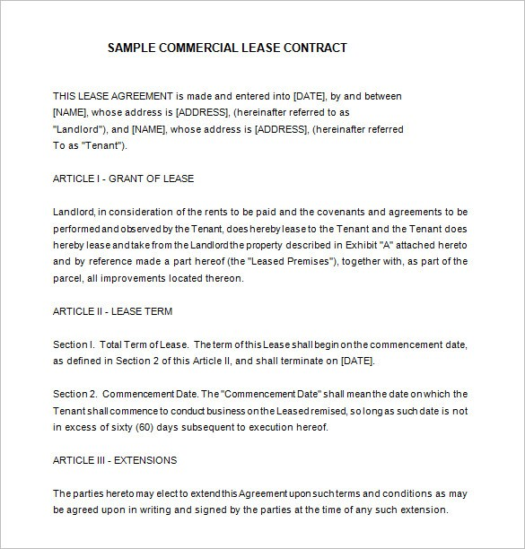 Leasing Contract Template