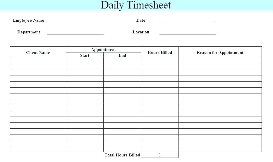 Legal Timesheet Template