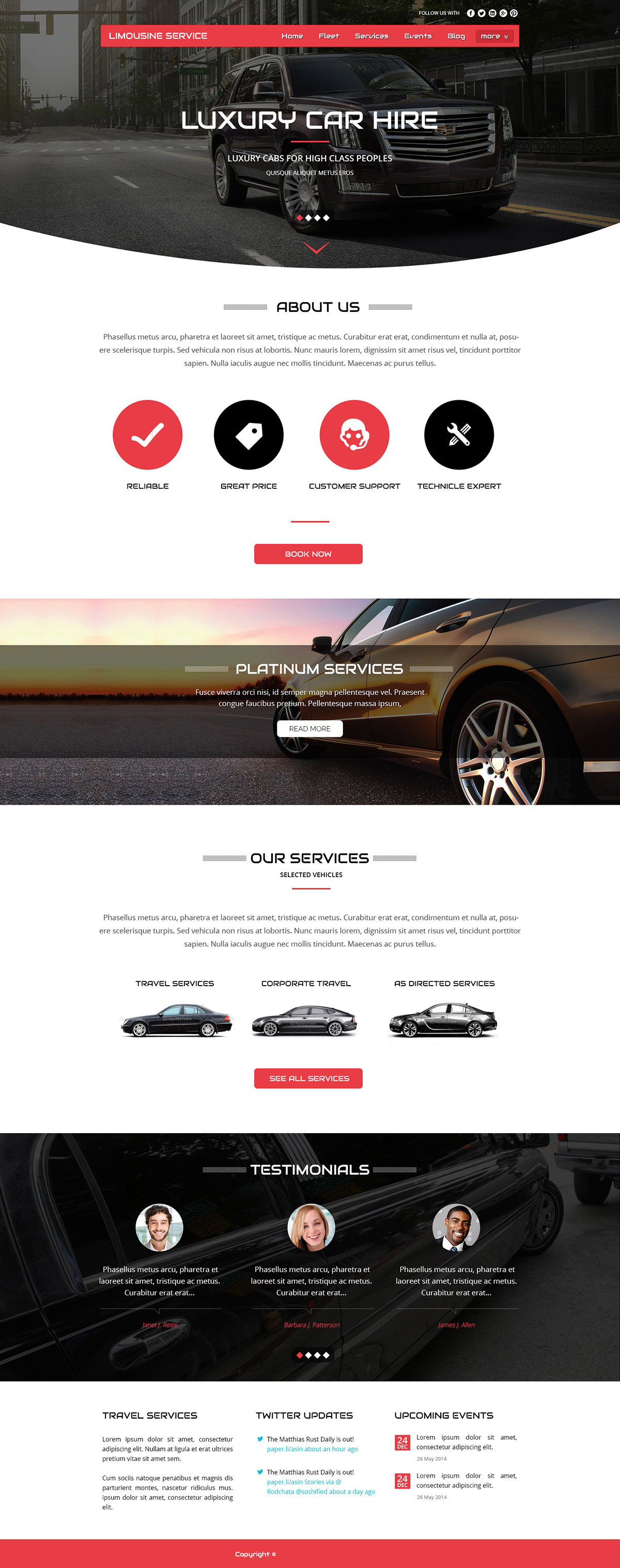 Limo Website Templates
