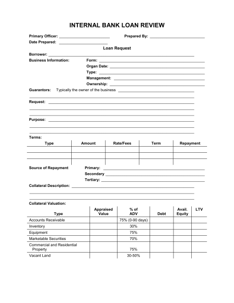 Loan Application Form Template Word