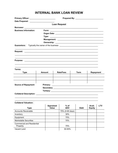 Loan Application Template Word