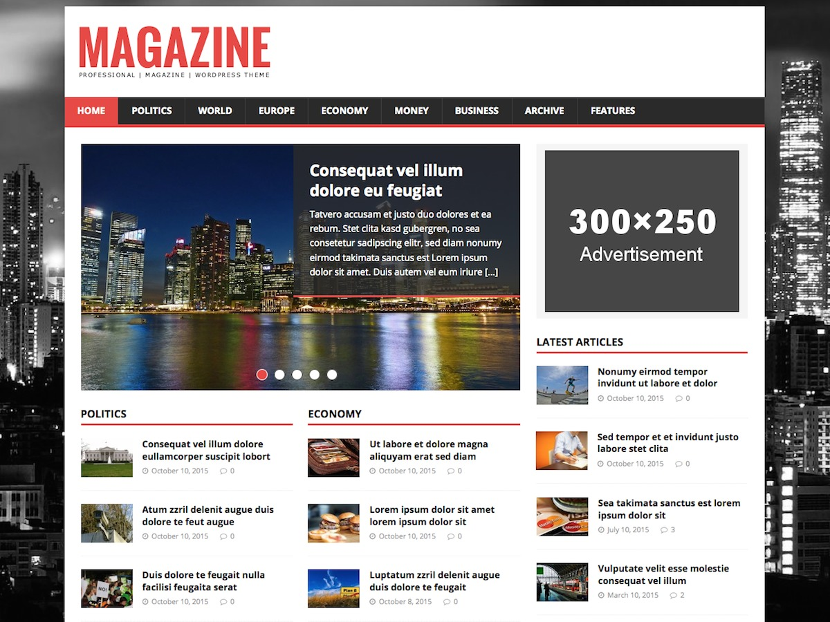 Magazine Template Wordpress
