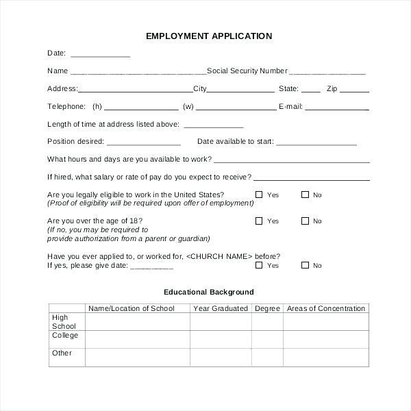 Membership Church Registration Form Template