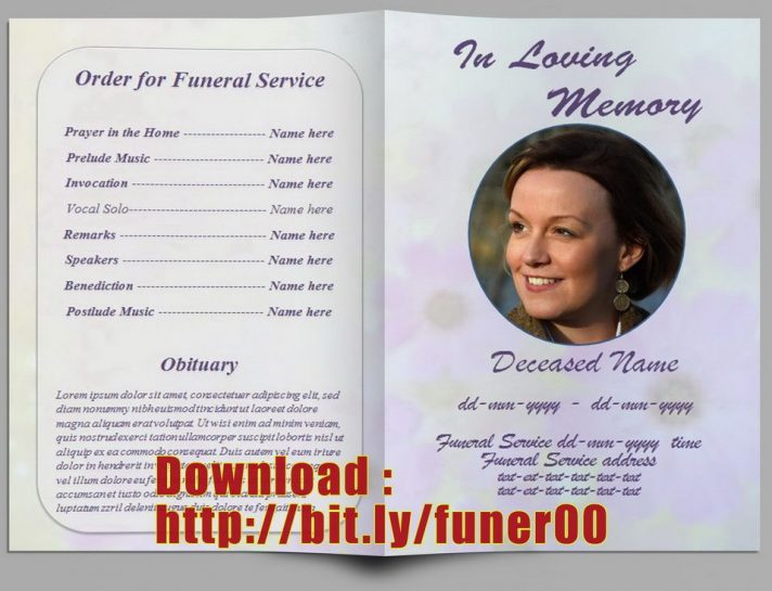 Memorial Order Of Service Template Free