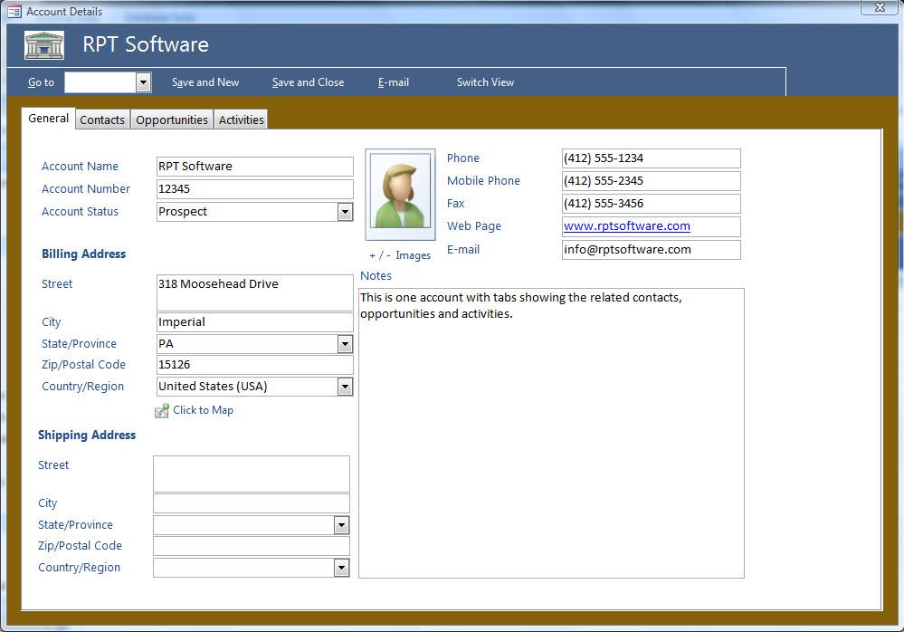 Microsoft Access Crm Template